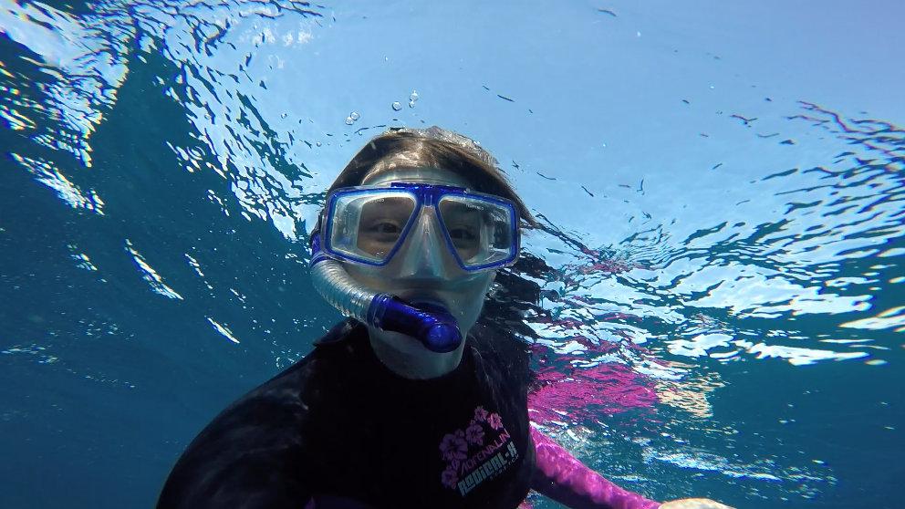 Snorkelling selfie = snorkie?