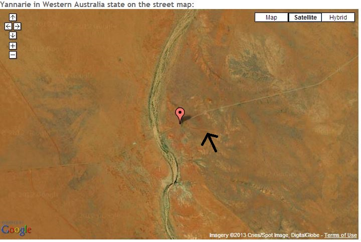 That's six hundred and twenty one. Kilometres. That kind of remoteness is both alluring and terrifying. Arrow points to the airstrip. If you squint you can see it.