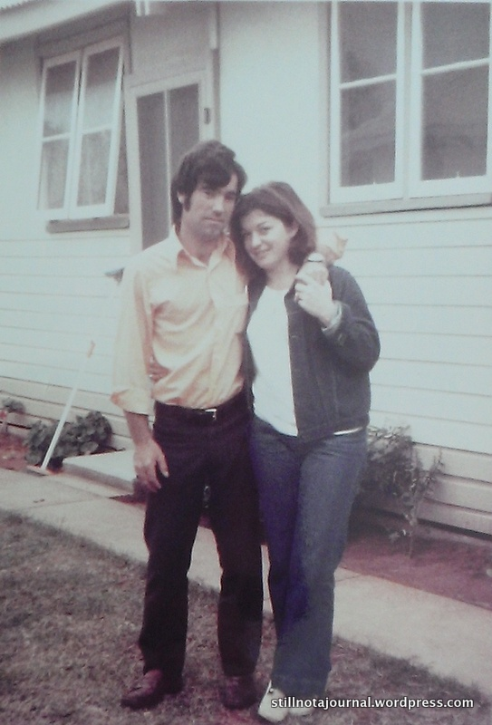 First photo of Mum and Dad, August 1972.