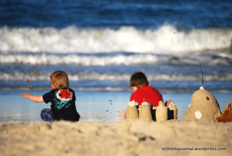 beach, sandcastle, ocean, Lennox Head