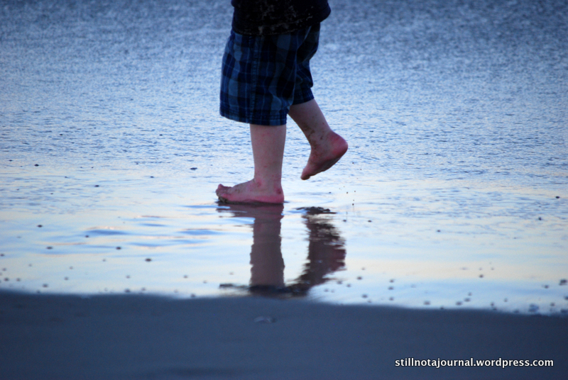 kids feet beach reflection Lennox Head