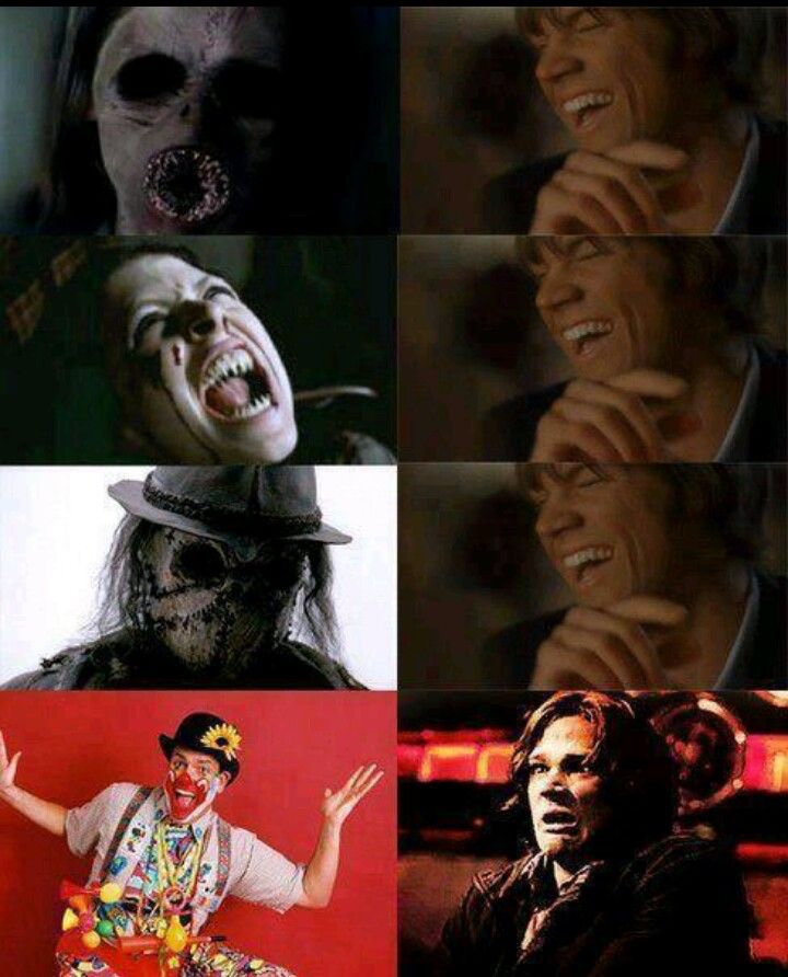Sam Winchester clowns