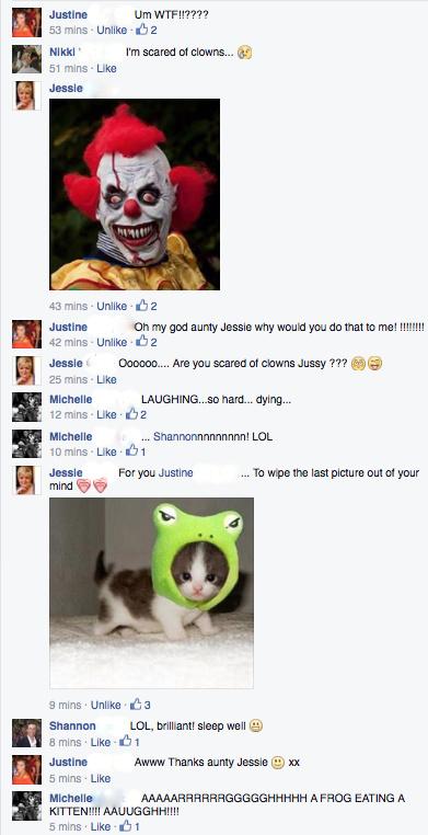 scary arse clown convo