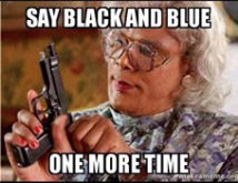say black n blue one more time dressgate