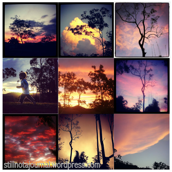 sunsets mosaic Instagram photos
