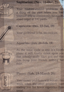 PROSH funny horoscope