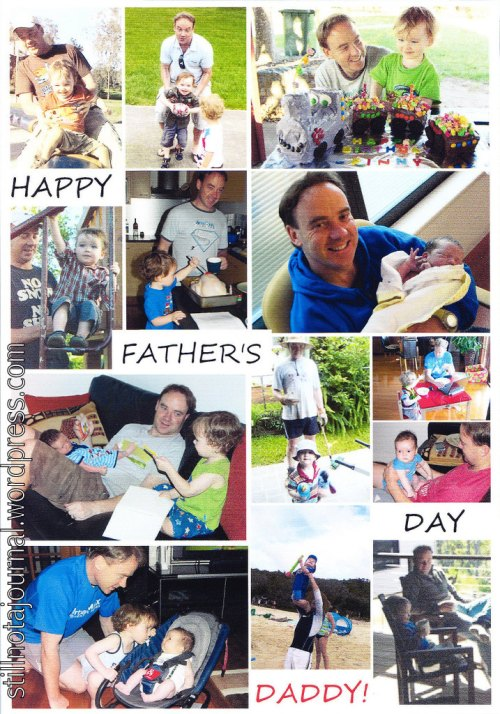 Father's Day photo mosaic card