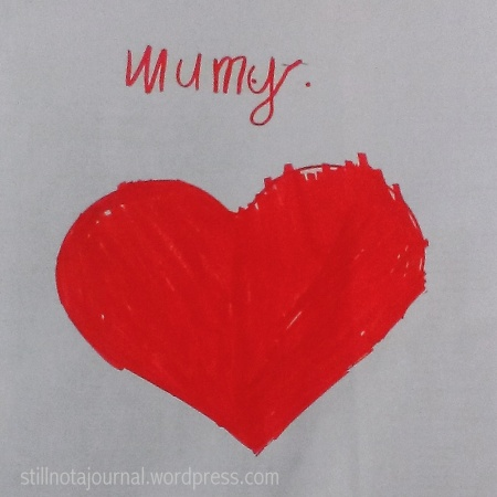 mother's day card heart