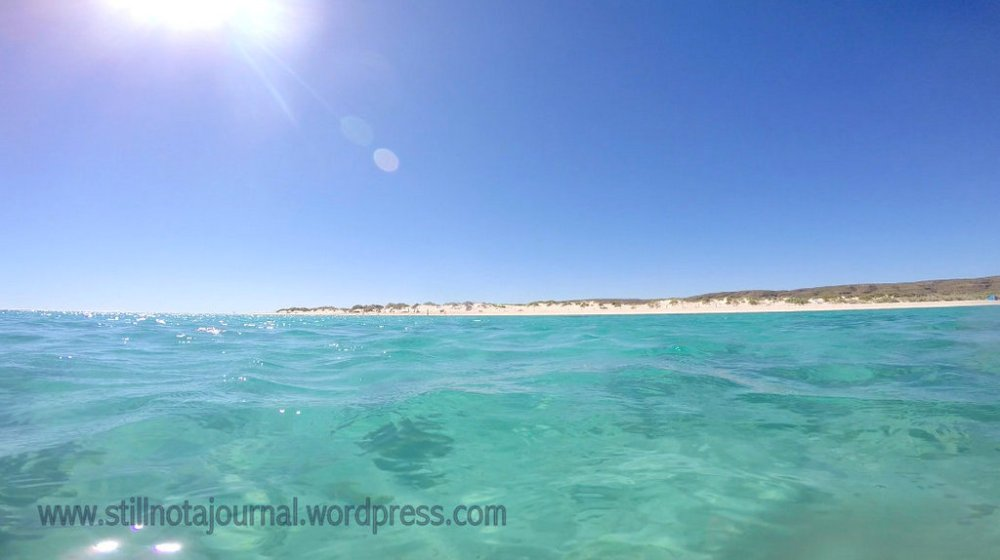 Turquoise Bay from the water, Ningaloo Reef