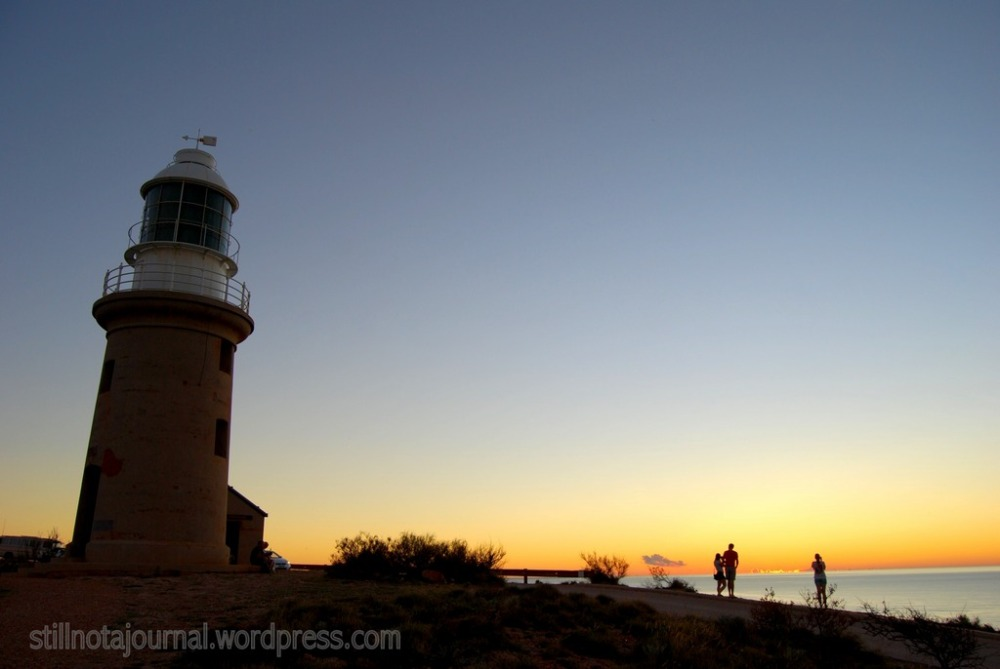 Sunset at Vlamingh Head lighthouse, Exmouth
