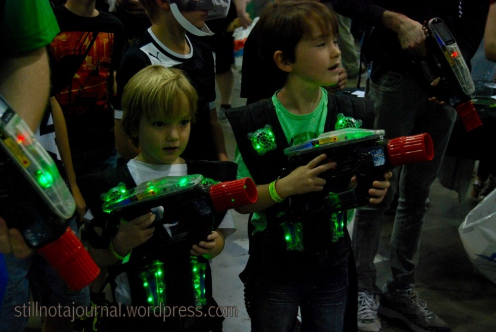 Laser tag at Oz Comic Con