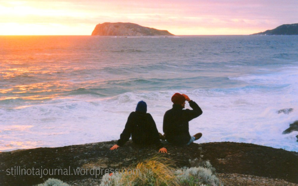 ocean sunset Bibbulmun Track Western Australia