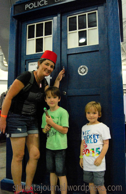 TARDIS at Oz Comic Con, Brisbane 2015
