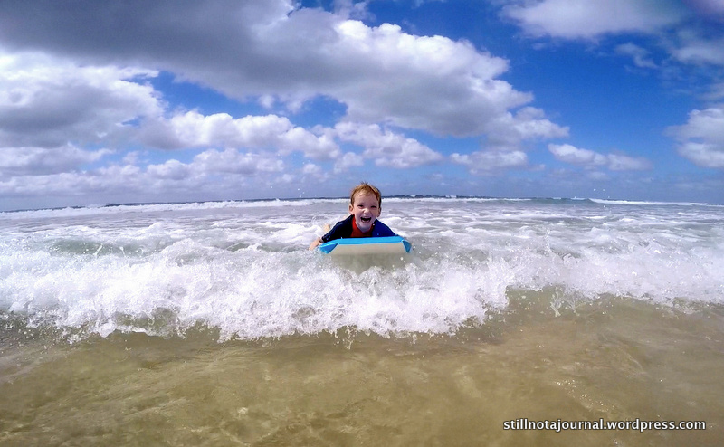 I'm surfing Mummy!