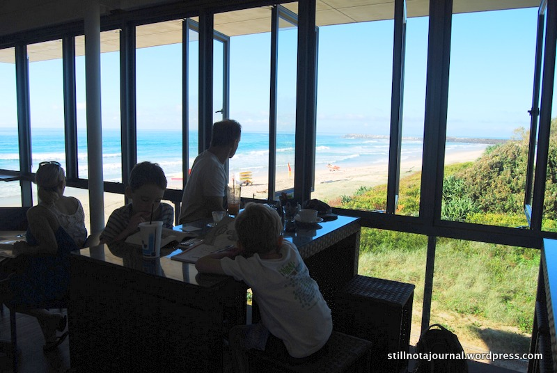 Had a fantastic view of Lighthouse Beach from our table by the window, and a sea breeze kicked up while we sat there.