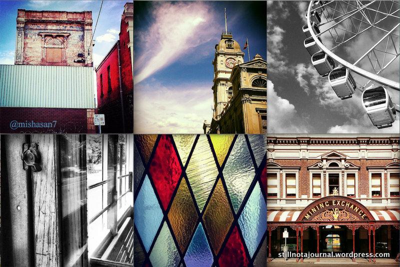 Worn-in building, Ballarat Town Hall, Wheel Of Brisbane, Lake Wendouree historical tram, stained glass window, Lydiard St. Ballarat.