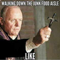 walking down the junk food aisle