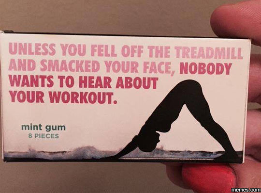 workout gum fitspo