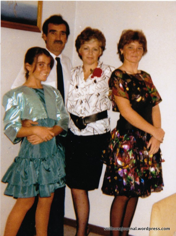 Oh sweet Jesus. Has to be 1989 judging by my horrifying grown out perm...