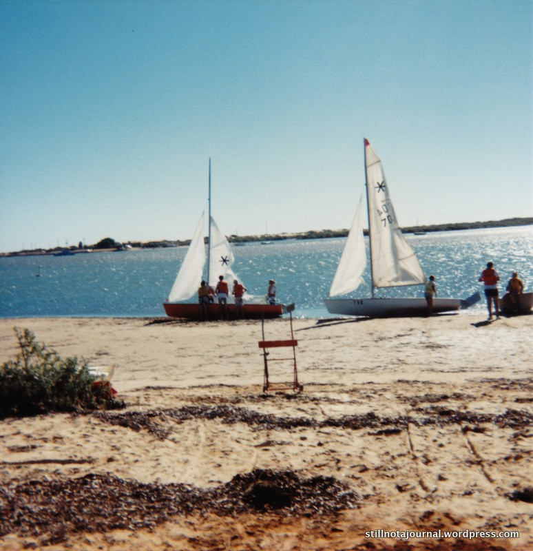 TS Gascoyne and that 'bloody orange boat' that Dad helped restore and that won everything at the Easter Regatta that time.