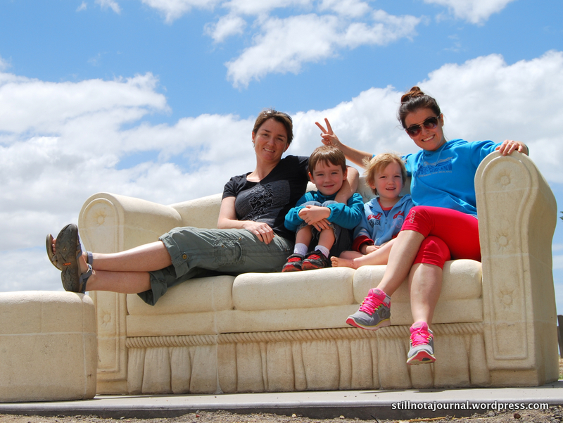 Remember this? Cool couch sculpture on the Geelong waterfront. Boys were like, is it okay to put our shoes on it?