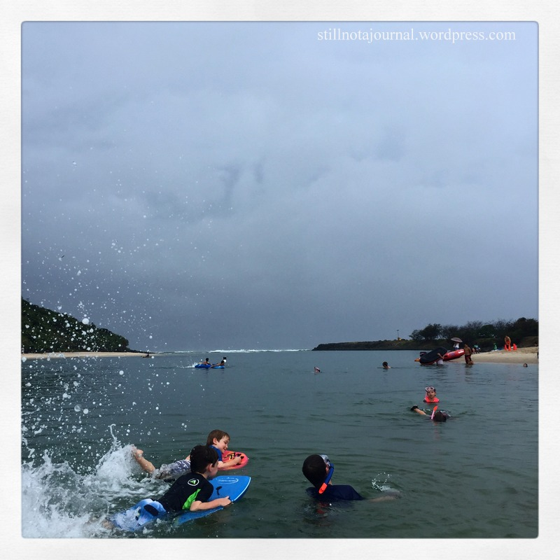We got about an hour and a half of skimboarding in before the lightning got a little too close and we evacuated.